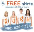 5 Free Custom T-Shirts
